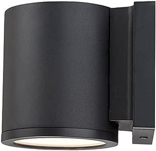 WAC Lighting WS-W2605-BK Tube LED Outdoor Wall Light Fixture, Dark Sky Friendly Single Light, 3000K, Black