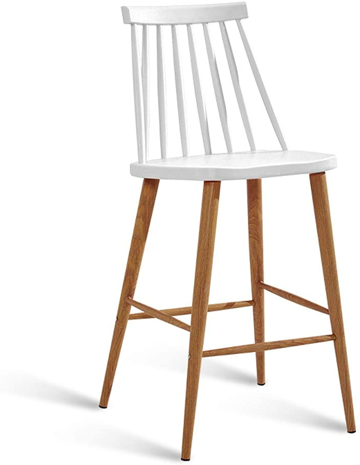 High Bar Chair Counter Height Indoor and Outdoor Bar Stools Seats Dining Chairs Kitchen Cafe Modern Style (color   White)