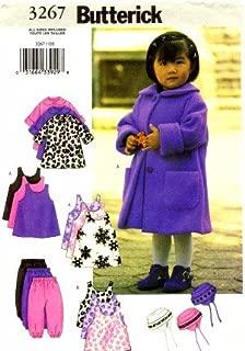 Butterick 3267 Sewing Pattern Toddlers Girls Coat Jumper Vest Pants Hat Size 1 - 2 - 3 - 4