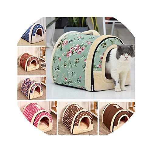 ZZmeet Huisdier Huis Kennel met Mat Opvouwbare Hond Bed Pad Kat Nest voor Kleine Medium Honden Reismand Puppy Tent cama perro hondenmand, 35x30x28cm, Vlag