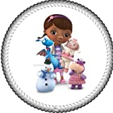 One 8' Round Doc Mcstuffins Edible Image Cake Topper