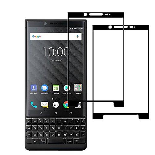 Blackberry KEY2 Panzerglas, AVIDET Hohe Qualität 3D Glasfolie Bildschirm Schutz Folie Vollschutz-mit Ultra-Stärke Ultra-Klare Transparenz Schutzfolie für Blackberry KEY2 (Schwarz)