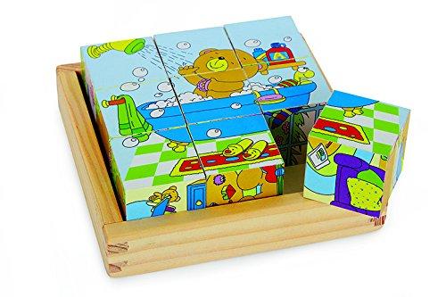 Legler - 2019634 - Puzzle en Bois - Cubes Ours