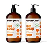 Everyone 3-in-1 Soap: Body Wash, Bubble Bath, and Shampoo, Citrus and Mint, 32 Ounce, 2 Count- Packaging May Vary