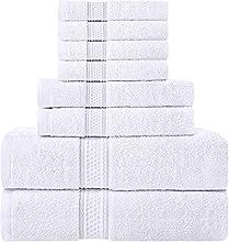 Utopia Towels - Juego de Toallas; 2 Toallas de baño, 2 Toallas de Mano y 4 toallitas - 100% Algodón (Blanco)