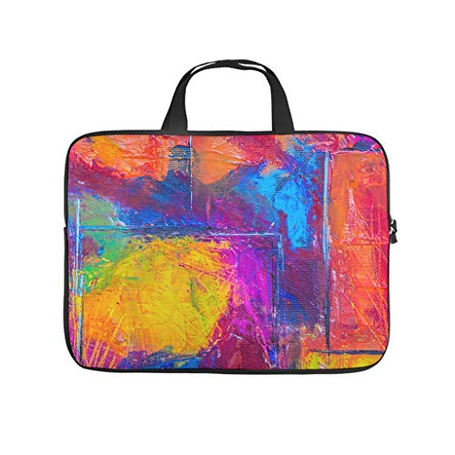 Oil Graffiti on Canvas Texture Laptop Bag Anti-Static Protective Case for Laptops Pattern Notebook Bag for University Work Business
