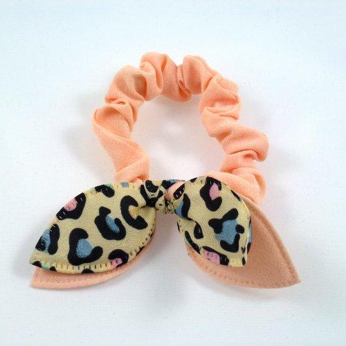 Rougecaramel - Elastique bracelet double nœud - saumon