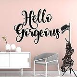 Etiqueta engomada de la pared de la letra de Hello linda etiqueta...