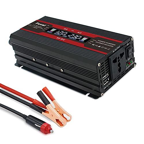 Inversor Inversor de coche DC 12V a AC 220V 230V 240V 1500W / 2000W / 2600W Cargador Transformador Transformador Convertidor de voltaje Accesorios de auto Inversor De Corriente