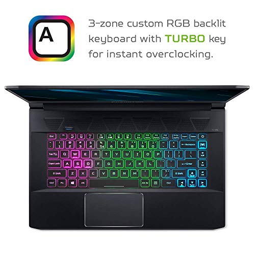 Product Image 1: Acer Predator Triton, Gaming Laptop, Core i7-8750H, GeForce RTX, Max-Q, 15.6 inches FullHD 144Hz, 16GB , 512GB PCIe SSD (Renewed)
