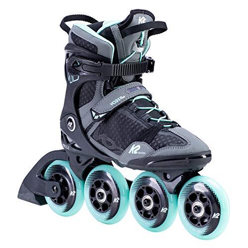 K2 Inline Skates VO2 S 90 W Für Damen Mit K2 Softboot, Grey - Teal, 30F0155