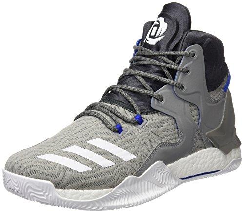 adidas D Rose 7, Scarpe da Basket Uomo, Grigio (Grpuch/Ftwbla/Grpudg), 49 EU