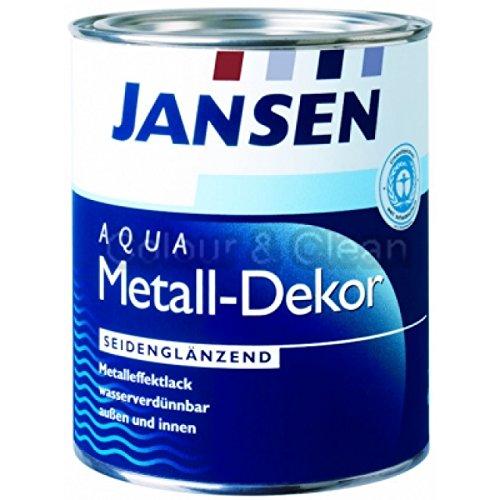 JANSEN Aqua Metall-Dekor Metalleffektlack 375ml RAL 9006 silber