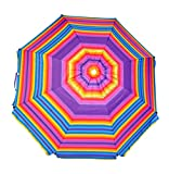 8 ft Platinum Heavy Duty Beach Umbrella with Reinforced Fiberglass...