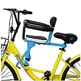 JTYX Sillas de Bicicletas para niños Bicicleta Asiento para niños Frente Seguridad Ocio Bicicleta de montaña Bicicleta Plegable Sillita de bebé Cierre rápido
