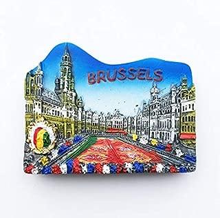 Qlychee Belgium Brussels Fridge Magnet Stickers Grand Place Flower Carpet Festival
