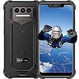 OUKITEL WP9 Teléfono Móvil Resistente Agua y Golpes, 6GB+64GB Batería 8000 mAh, 5.86''HD Otto Core Android 10 Impermeable IP68/69K Rugged Smartphone,16MP+8MP Camera Dual SIM/NFC Robusto Movil Negro