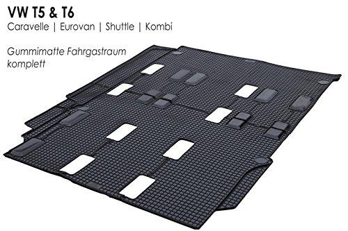 kh Teile Gummimatten T5 T6 Original Qualität Gummi Fußmatte hinten (Fahrgastraum)