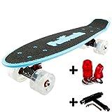 FunTomia Miniboard Cruiser Skateboard mit 70/65mm Big Wheel...