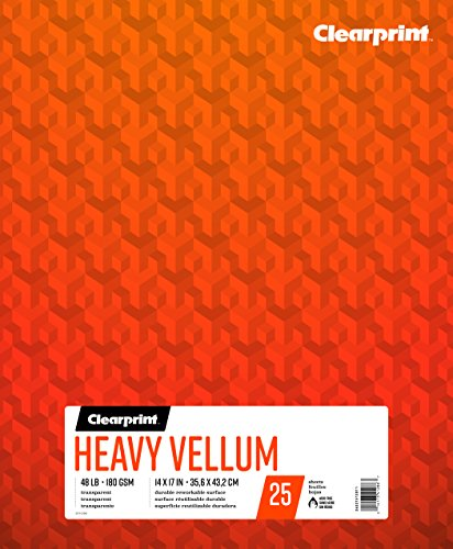 Clearprint Heavy vitela Pad, 48kg, 180g/m², 14x 17cm, 25hojas por bloc, 1cada (26321512011)