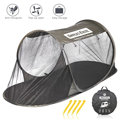 Dimples Excel Mosquito Net Pop Up Tent for Travel Camping Sleeping Mosquito Netting Mesh Popup Outdoor Hatchback Large Free-Standing Compact