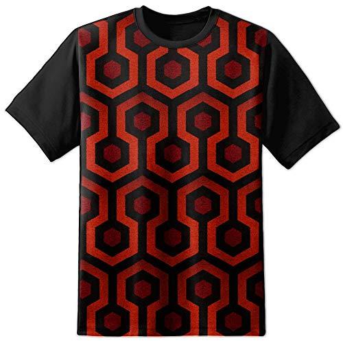 Digital Pharaoh Hommes The Shining Tapis Poster T-Shirt Film Rétro - Multicolore, XL