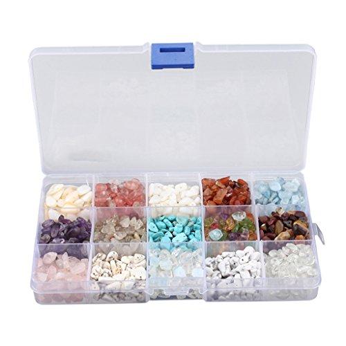 Sconosciuto Generic 15Tipos Piedra Perlas Perlas Beads Charm para producción de Joyas Collar Pulsera creación