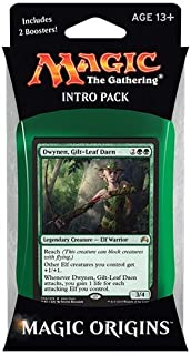 Magic the Gathering: MTG Magic Origins: Intro Pack / Theme Deck: Dwynen Gilt-Leaf Daen(includes 2 Booster Packs &
