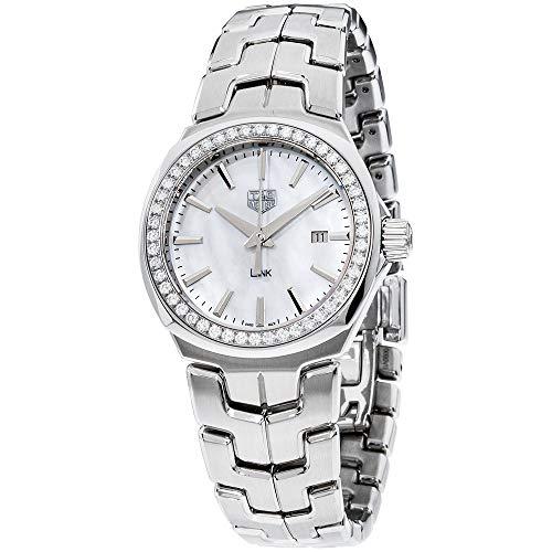 Tag Heuer Link Madre de Pearl Dial de acero inoxidable señoras reloj WBC1314.BA0600