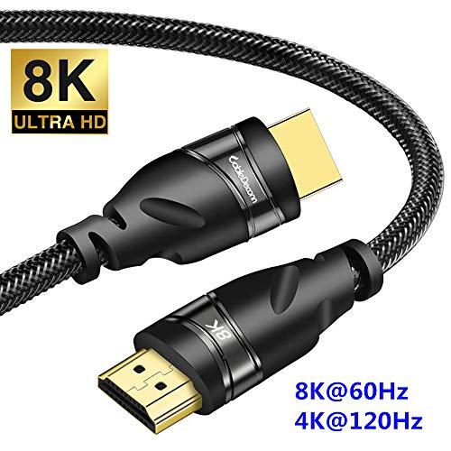 CABLEDECONN 8K HDMI Koper Kabel Real UHD HDR 8K 48Gbps, 8K@60Hz 4K@120Hz Ondersteuning HDCP 3D HDMI-Kabel voor PS4 SetTop Box HDTV's Projectors 0.5m 1,6ft