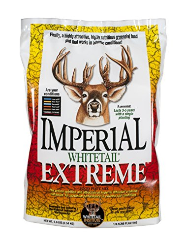Whitetail Institute Extreme Deer Food Plot Seed, Perennial Seed Blend Designed for Poor Soil or Low Water Conditions, Highly Nutritious and Attractive to Deer, 5.6-Pound (.25 Acres)