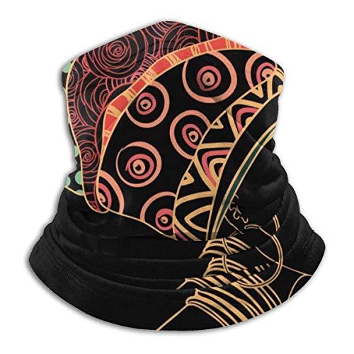 Calentador de Cuello África Negro Mujeres Retrato Calentador de Cuello Pasamontañas a Prueba de Viento Capucha de Lana Sombreros de Invierno UV Gratis