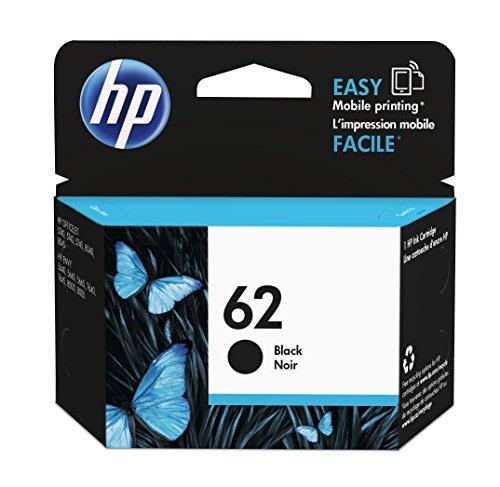 HP 62 Black Ink Cartridge 4ml 200páginas Negro cartucho de tinta - Cartucho de tinta para impresoras (HP, Negro, ENVY 5640 e-AiO, ENVY 7640 e-AiO, Officejet 5740 e-AiO, Estándar, 4 ml, 200 páginas)