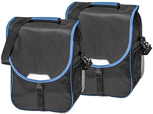 4Uniq Fahrradtasche Gepäckträger Tasche 2er Set Verschiedene Versionen (schwarz/blau)