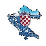 Kühlschrankmagnet in 3D-Karte-Form, Kroatien, Souvenir-Kollektion, Heim- & Küchen-Dekoration, Magnet-Aufkleber, Kroatien, Kühlschrankmagnet