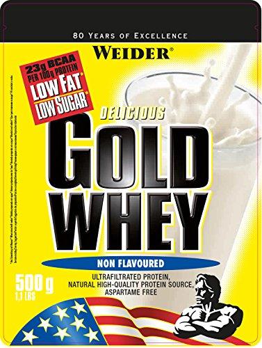Weider Gold Whey Protein, Neutral, 1er Pack (1 x500 g)