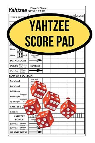 Yahtzee Score Pad: 120 Yahtzee Score Sheet, Game Record Score Keeper Book, Score Card