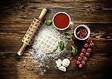 ArtDog Ltd. Norwegischer Elchhund, gravierter Nudelholz, für Kuchen und Kekse, Küchengerät, klein
