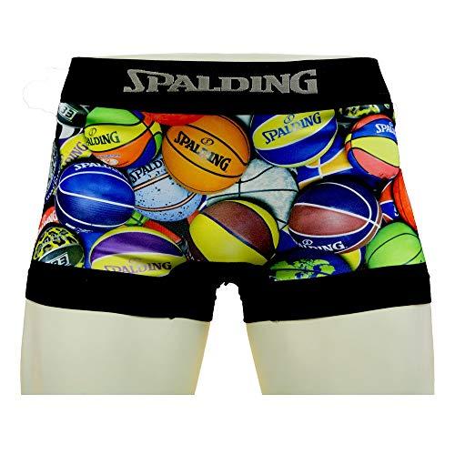 SPALDING(スポルディング) バスケットボール カラフルボールプリントボクサーパンツ D1SB-102 ブラック Lサイズ バスケ バスケット