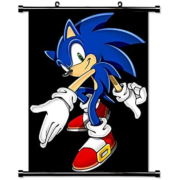 Amazon Com Sonic The Hedgehog Game Fabric Wall Scroll Poster 32 X 42 Inches Prints Posters Prints