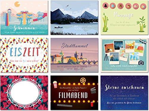 """Gutschein Set mit 12 Postkarten """"Zeit für uns"""" - Ideal zum Verschenken an einen Lieblingsmenschen - von Sophies Kartenwelt"""