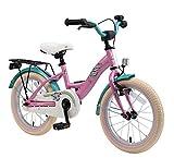 BIKESTAR Bicicleta Infantil para niños y niñas a Partir de 4 años | Bici 16 Pulgadas con Frenos | 16' Edición Clásica Rose