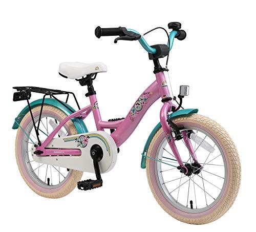 """BIKESTAR Bicicletta Bambini 4-5 Anni Bici Bambino Bambina 16 Pollici Freno a Pattino e Freno a retropedale 16"""" Classico Edition Rosa"""