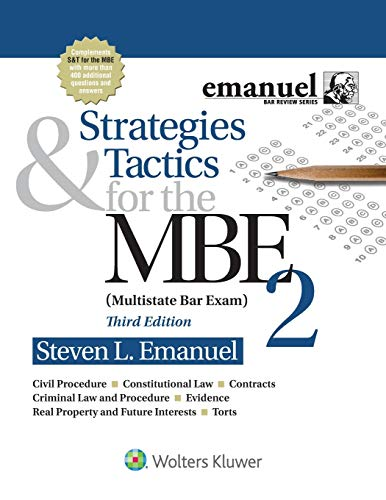 Strategies & Tactics for the MBE 2 (Bar Review)