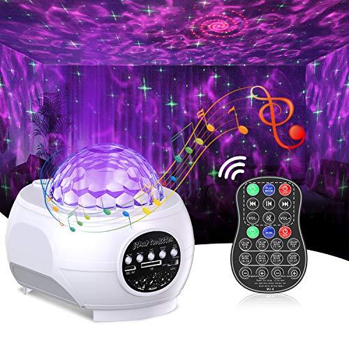 Cocoda Proyector Estrellas con LED Nebulosa, 3 en 1 Luz Nocturna Altavoz Bluetooth Incorporado con Control Remoto, Proyector Galaxia para...