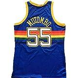 DIMOCHEN Movement Ropa Jerseys de Baloncesto para Hombres, NBA Denver Nuggets #55 Dikembe Mutombo, Fresco, cómodo, Camiseta Uniformes Deportivos Tops(Size:L,Color:G1)