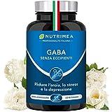 GABA | 750 mg al giorno | Relax | Concentrazione | 60 Capsule di Origine Vegetale | Nutrimea | Vegano
