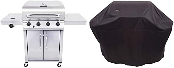 Char-Broil 463375919 Performance Stainless Steel 4-Burner Cabinet Style Liquid Propane Gas Grill & All-Season Grill Cover,...