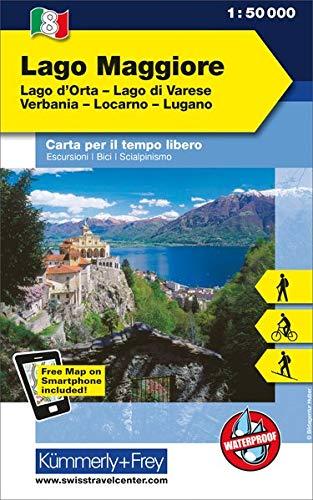 Lago Maggiore, lago d'Orta, lago di Varese, Verbania, Locarno, Lugano 1:50.000. Carta escursionistica