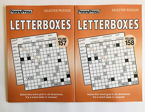 157 and 158 Volume Numbers of Letterboxes Puzzle Books from Penny Press Selected Puzzle Series (Tanglewords)